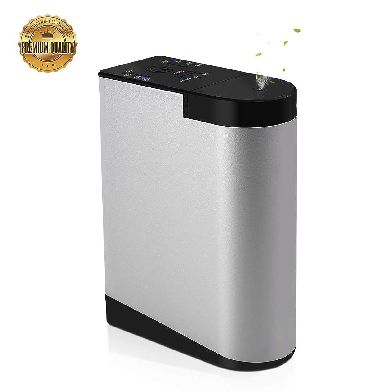イル保証金トリクルCaseceo 水なし 電池式 エッセンシャルオイル ディフューザー充電式と可搬式 家、ビジネス、オフィス 用 アルミニウム合金