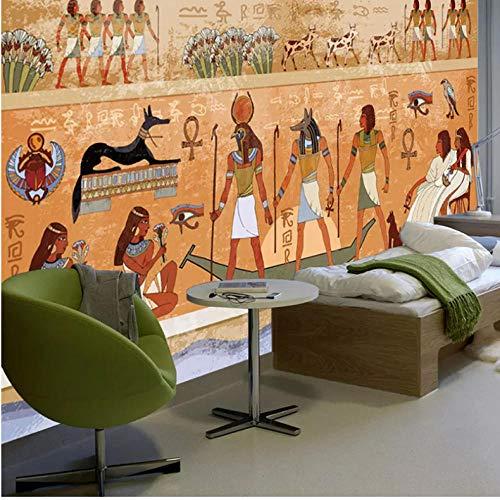 Europäischen Stil Retro Ägyptischen Figuren Fototapeten Tapete 3D Restaurant Cafe Wohnzimmer Studie Hintergrund Wandverkleidung Decor-280X200CM