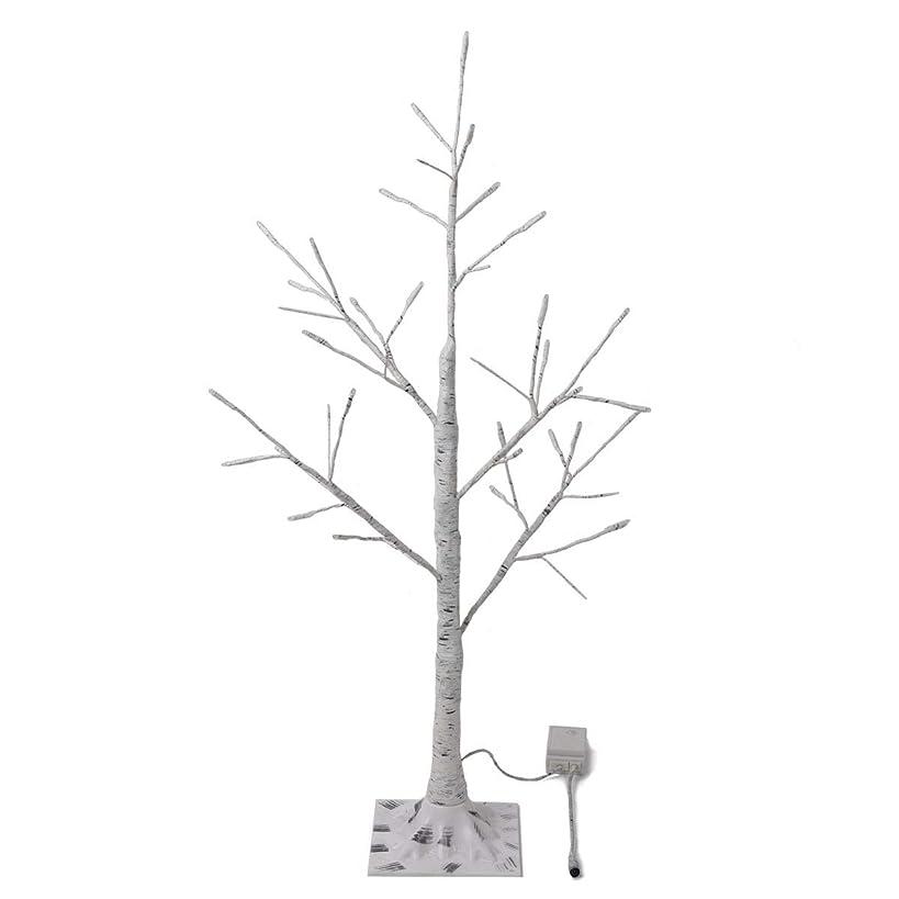 クルーズ習慣記憶に残る白樺 シラカバ ツリー クリスマスツリー 90cm 北欧 おしゃれ ウェルカムツリー ハロウィン ヌードツリー シラカバツリー 白樺ツリー led ライト cm18a