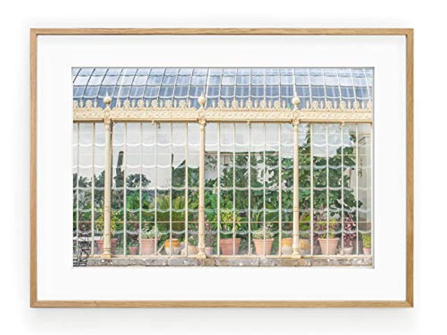 Green House Black Satin Aluminium Frame with Mount, Multicolored, 40x50