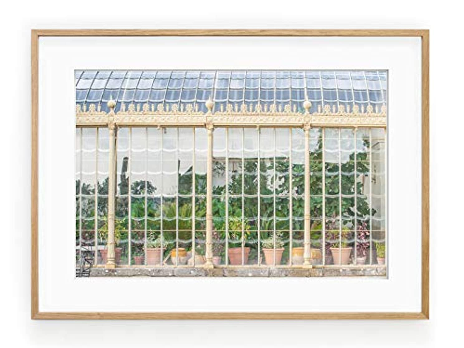 Green House Black Satin Aluminium Frame with Mount, Multicolored, 50x70