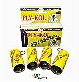 Todo Cultivo Tira atrapamoscas Adhesiva no venenosa Fly-KOL. 40 uds. Protección eficaz contra Moscas, Insectos y Mosquitos
