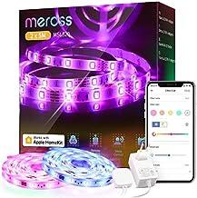 Wi-Fi LED Strip Działa z Apple HomeKit, Meross Smart RGB Strip, 12V IP20 Oświetlenie Paskowe, Elastyczne DIY Strip Działa ...