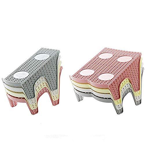 Boner 1Pc Rotan schoenenrek Dubbele weergave Ruimtebesparende schoenenorganizer Plastic standaard PlankOpslag Duurzaam, enkel wit