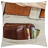 Fundas de almohada, monedero, dinero en efectivo, tarjeta de crédito, monedero, fundas de cojín de moda, para dolor de...