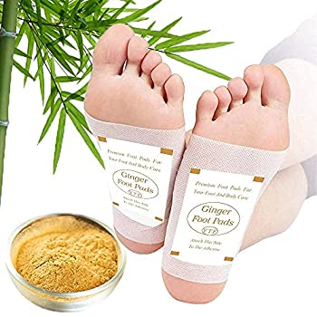 Foot Pads -  60Pads  Ginger Foot Pads for Better Sleep and Anti-Stress Relief Pure Natural Bamboo Vinegar and Ginger Powder Premium Ingredients Combination for Foot and Body Care.