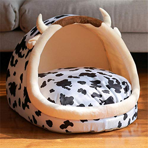 Generic Brands Washable Foldable Cat House Warm Soft Cute Winter Pet Dog Cat Bed Kennel Nest for Small Medium Cat Dogs