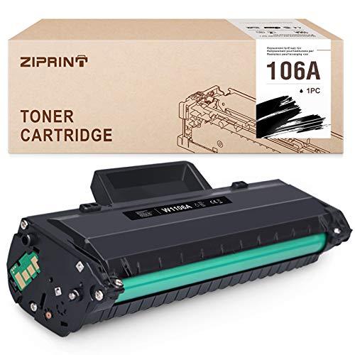 ZIPRINT 106A (Con chip) Compatible con HP 106A W1106A Toner per HP laser MFP 135a MFP 135r MFP 135w MFP 137fnw HP laser MFP 107a 107w 107r (1 nero)