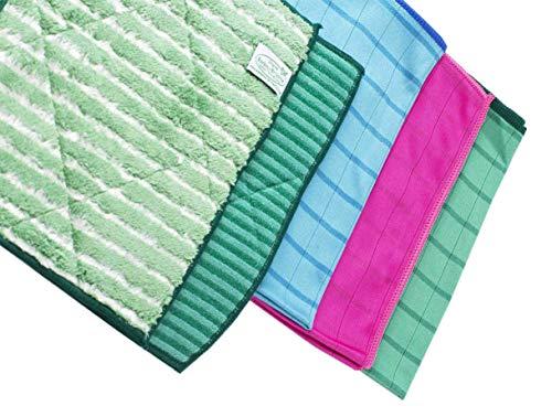 Lot de 5 pièces Microfibres Bambou Couleurs (2 lavettes et 3 lingettes) Bambou Brillante