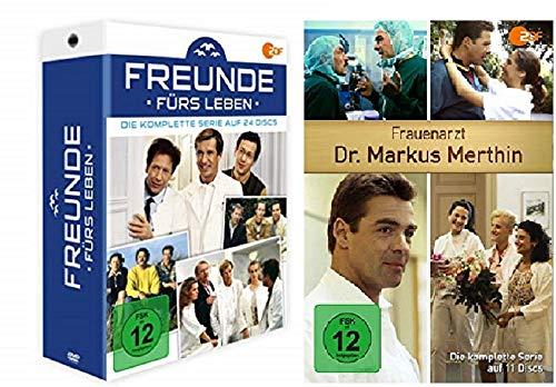 Freunde fürs Leben - Die komplette Serie (24 DVDs) + Frauenarzt Dr. Markus Merthin - Komplettbox (11 DVDs)
