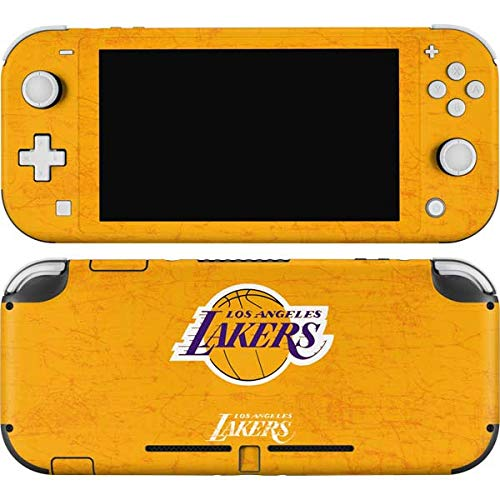 Skinit Decal Gaming Skin Compatible with Nintendo Switch Lite - Officially Licensed NBA Los Angeles Lakers Gold Primary Logo Design