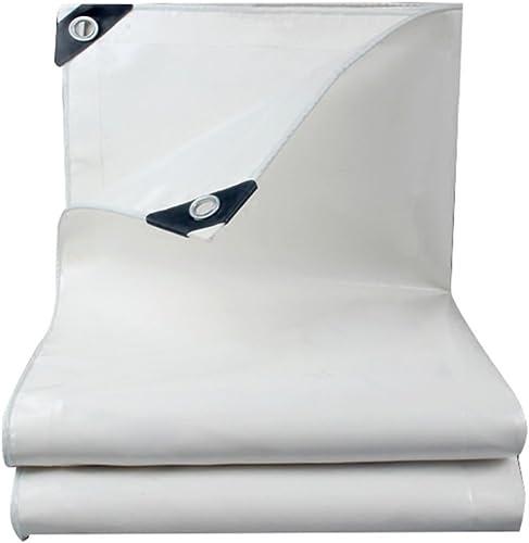 Bache Toile Blanche de bache de Pluie Tissu imperméable à l'eau de Prougeection Solaire Tissu Hangar bache de Tissu, épaisseur 0,45 mm, 500 g   m2, 7 Options de Taille