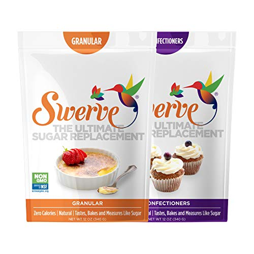 Swerve Sweetener, Bakers Bundle, Granular and Confectioners, 12 Ounce, pack of 2