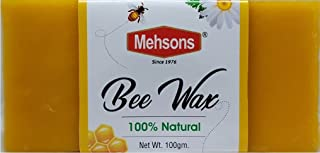 Mehsons 100% Pure & Premium Grade Beeswax for Skin Care Products, Candles, DIY Crafts, Lip Balms etc (100 Gram)