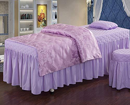 Table De Massage Couvre-Lits Salon De Beauté Ensemble De Quatre Tissus De Haute Qualité, Doux pour La Peau Peuvent Être Personnalisés,Roundhead,180X70cm