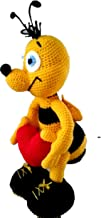 Bee Maya. Soft Toy Amigurumi. Yellow Bee Crocheted. Hand Bumblebee Maya Bee Toy as a Gift to a Child Gift for a Bee Lover Hand Knitted Toy