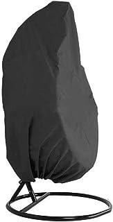 Fodera per Sedia da Giardino Rivestimento in PVC Impermeabile Grigio Sospesa Poltrone Sospese da Giardino Esterno Coprisedie Sedie Uovo DZKU Copri Poltrona Sedia a Dondolo 115 * 190cm