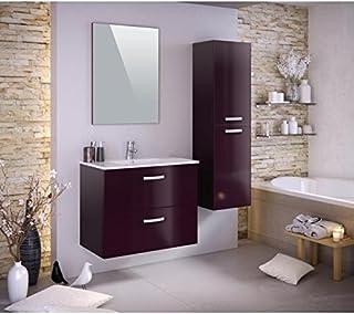 Amazon.fr : meuble salle de bain aubergine - Générique