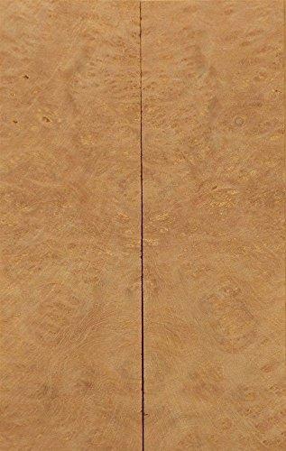 """Satinwood Pyinma Burl (2 pc) Knife/Razor Scale 1/4""""x1 1/2""""x5"""" 701"""