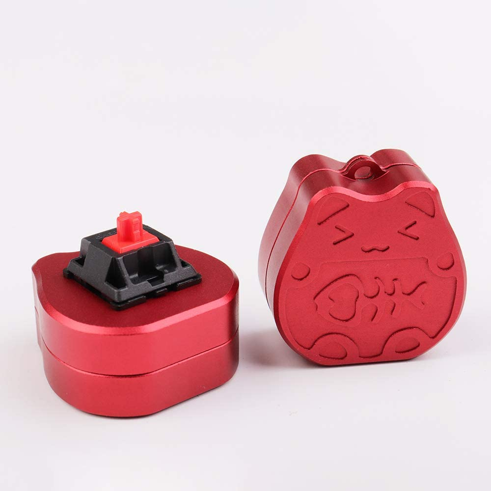 Lucky Cat Gold Aluminum Switch Opener (Red)