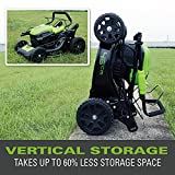 Greenworks Tools Cordless Lawn Mower GD40LM46SP(Li-Ion 40 V 46 cm Cutting Width 3in1 Mulching Self-Propelling Side Discharge 55l Bag 7-step Cut Height Setting Without Battery & Charger)