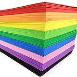 70 Pcs EVA Foam Handicraft Sheets (11' x 7.5') 2mm Thick Craft Foam Sheets Assorted Colorful Crafting Sponge...