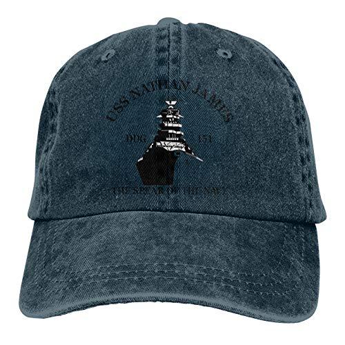 The Last Ship USS Nathan James Unisex Adult Cap Adjustable Cowboys Hats Baseball Cap Navy