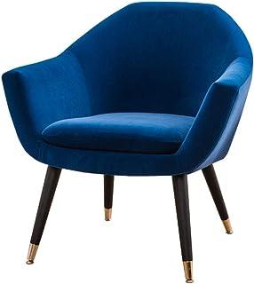 Rétro Chaises Rembourrée,Tissu pour La Chambre du Salon Terrasse de Bureau Salon de Comptoir Canapé Fauteuil (Color : Blue)