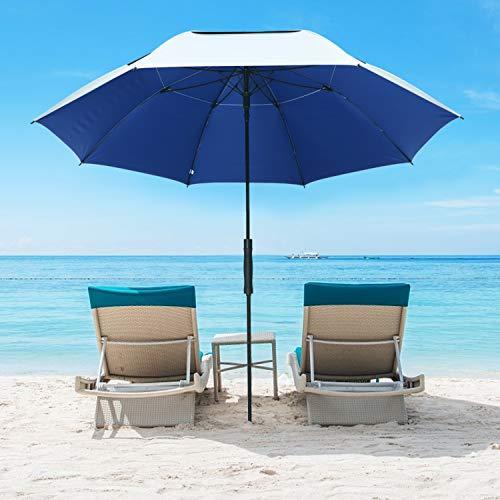 G4Free 68 Inch UV 50+ Beach Umbrella Golf Umbrella