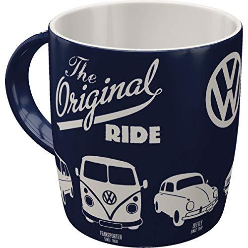 Nostalgic-Art - Volkswagen Retro Kaffee-Becher - VW - The Original Ride - Bulli T1, Beetle & Golf, Große Lizenz-Tasse, Vintage VW Bus Geschenk, 330 ml