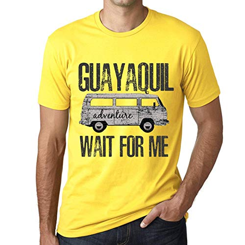 One in the City Hombre Camiseta Vintage T-Shirt Gráfico Guayaquil Wait For Me Amarillo