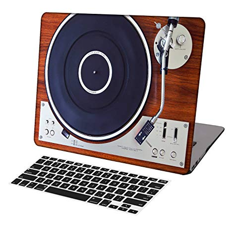KSK KAISHEK Laptop Case for Older MacBook Pro 13 inch(2012-2015 Release,Retina Display,No CD ROM/Touch Bar) Model A1425/A1502,Ultra Slim Light Hard Shell Keyboard Cover,Retro Record Player