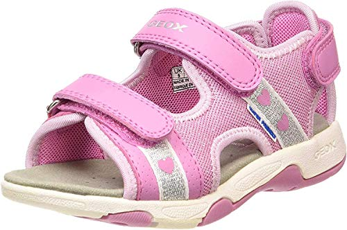 Geox Dziewczęce B Sandal Multy Girl B buty do nauki chodzenia, różowy - Pink Dk Pink C8006-25 EU