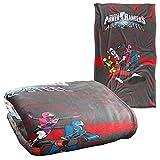 Trevco Power Rangers Ninja Team Silky Touch Super Soft Throw Blanket 36' x 58'
