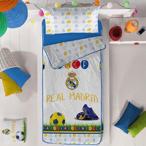 Real Madrid Saco Nórdico Kids de Manterol (Incluye Relleno) Cama 90