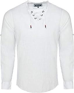 Carisma CRM8490 - Camicia da uomo con lino, 2 colori, taglie S-XXL