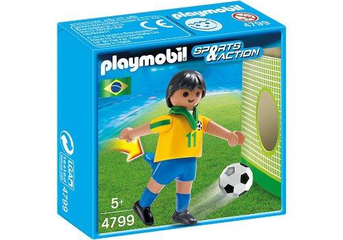 Playmobil Fútbol - Sports & Action Jugador Brasil