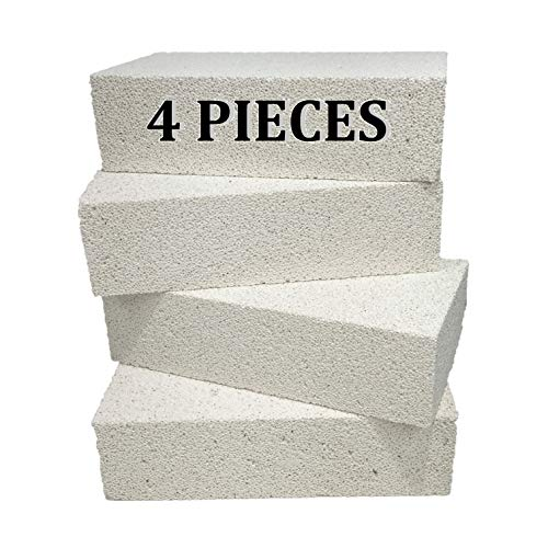 Executive Deals Insulating Fire Brick for Ovens, Kilns, Fireplaces, Forges - 4 Piece Brick
