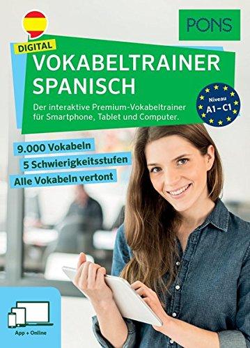 PONS Digital Vokabeltrainer Spanisch: Der interaktive Premium-Vokabeltrainer für Smartphone, Tablet und Computer