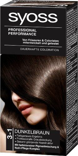 Syoss Color 3-1 Dunkelbraun Stufe 3, 1er Pack (1 Stück)