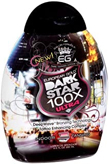 European Gold Dark Star 100x Ultra Indoor Tanning Lotion, 8.5 fl oz