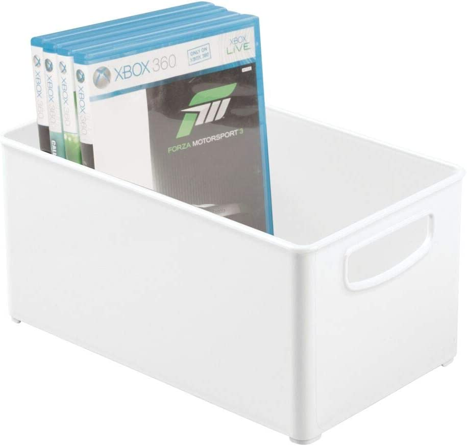 mDesign Special price for a limited time Plastic Stackable Home Storage Max 64% OFF Container Organizer Bin B