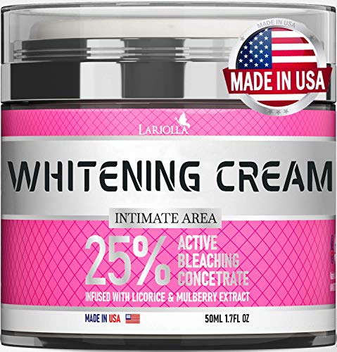 Bleaching Cream for Intimate Areas - Made in USA - Skin Whitening Cream Infused with Hyaluronic Acid...