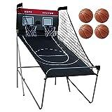 Canasta de baloncesto – Máquina de tiro de baloncesto, incluye 4 pequeñas pelotas de baloncesto y bomba, contador de puntos, pantalla digital, juego Arcade para toda la familia