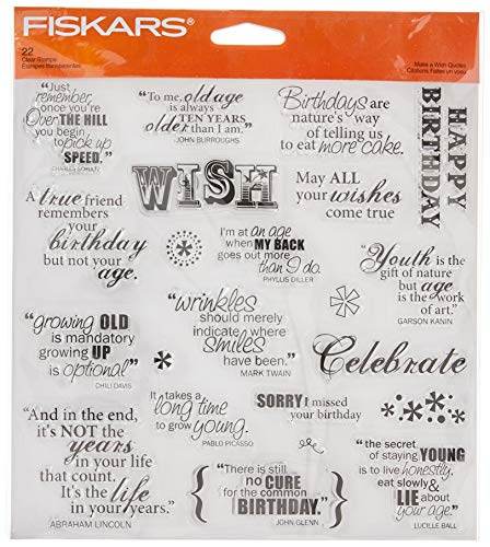 Fiskars 8x8 Inch Make A Wish Clear Stamps (01-005541)