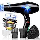 Hair Dryer, Professional Dry Hair Dryer Lightweight Quiet Salon Tools Powerful Cold Air