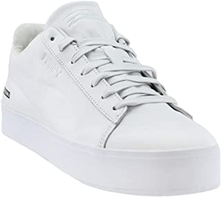 Mens Black Scale Court Platform Casual Sneakers,