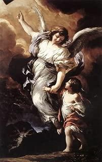 Pietro Da Cortona (Barrettini) The Guardian Angel 1656 72x114 [Kitchen]