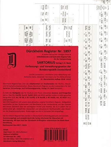 DürckheimRegister SARTORIUS (2020) Gesetze und §§: 128 Registeretiketten (sog. Griffregister)Registeretiketten (sog. Griffregister) für deinen ... Gesetzen und Paragrafen (§ 35 VwVfG)