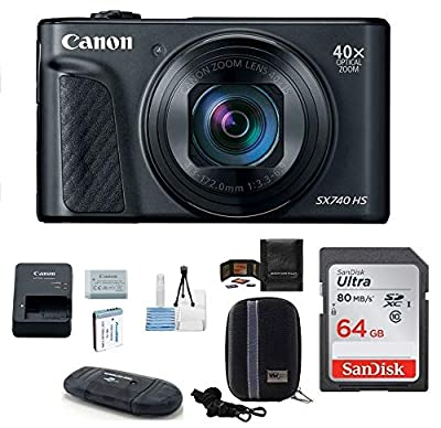 Canon PowerShot SX740 HS Digital Camera Bundle by Canon